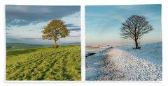 The Nowhere Tree - Four Seasons Hand Towel by Hazy Apple