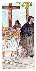 The Nuns Of St Marys Hand Towel by Philip Bracco