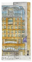 The Nyu Kimmel Student Center Hand Towel by AFineLyne