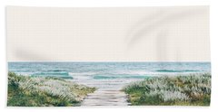 The Ocean Is Calling And I Must Go  Hand Towel by Uma Gokhale