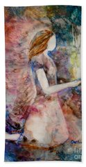 Bath Towel featuring the painting The Offering by Deborah Nell