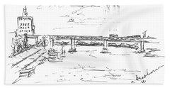 The Oka. View From The Kanavinsky Bridge. 29 April, 2016 Bath Towel