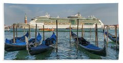 The Old And The New In Venice Hand Towel
