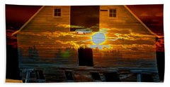 The Old Barn Hand Towel by Stuart Turnbull