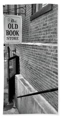 Hand Towel featuring the photograph The Old Book Store by Karol Livote