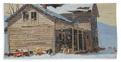 the Old Farm House Bath Towel by Len Stomski