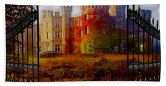 The Old Haunted Castle Hand Towel by Michael Rucker