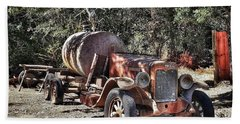 The Old Jalopy In Wine Country, California  Hand Towel