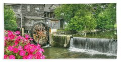 The Old Mill Hand Towel by Myrna Bradshaw