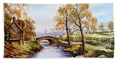 The Old Mill Path Edit 1 Bath Towel