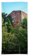 The Old Monastery Of Escornalbou Surrounded By Trees In Spain Bath Towel