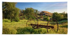 The Old Mower 1 Hand Towel by Endre Balogh
