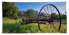 The Old Mower 2 Bath Towel by Endre Balogh