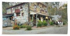 The Old Story Inn 1851 Nashville Indiana - Original Hand Towel by Scott D Van Osdol