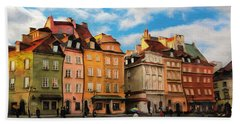 Old Town In Warsaw # 23 Bath Towel
