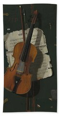 The Old Violin Hand Towel