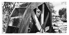 The Old Waterwheel Bath Towel by Ray Shrewsberry