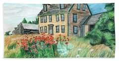 The Olson House With Poppies Bath Towel