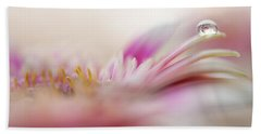 Hand Towel featuring the photograph The One. Macro Gerbera by Jenny Rainbow