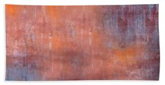 Bath Towel featuring the digital art The Orange Fog by Mihaela Stancu