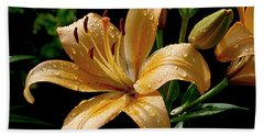 The Orange Lily Hand Towel