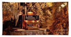 The Organ In Luray Caverns Bath Towel by Paul Ward