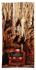 The Organ In The Cavern Bath Towel by Paul Ward