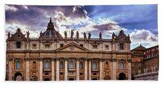 The Papal Basilica Of Saint Peter Hand Towel