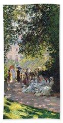The Parc Monceau Bath Towel by Claude Monet