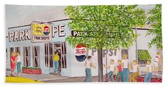 The Park Shoppe Portsmouth Ohio Bath Towel by Frank Hunter