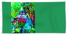 Flowers In The Park Hand Towel