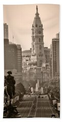 The Parkway In Sepia Hand Towel by Bill Cannon