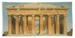 The Parthenon Hand Towel by Louis Dupre