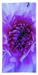 The Passionate Dahlia Bath Towel