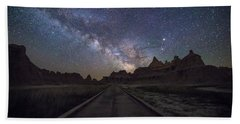 Bath Towel featuring the photograph The Path by Aaron J Groen