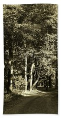 Hand Towel featuring the photograph The Path Less Traveled by John Schneider