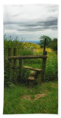 Bath Towel featuring the photograph The Path Most Traveled  by Connie Handscomb