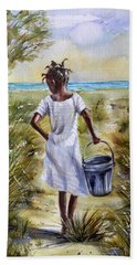 The Path To The Sea Hand Towel