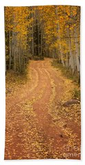 The Pathway To Fall Hand Towel by Ronda Kimbrow