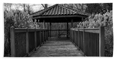 Bath Towel featuring the photograph The Pavilion By The River by Kirt Tisdale