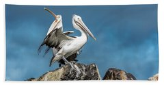 The Pelicans Bath Towel by Racheal Christian