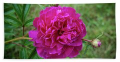 Bath Towel featuring the photograph The Peonie by Mark Dodd