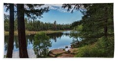 Hand Towel featuring the photograph The Perfect Fishing Spot  by Saija Lehtonen