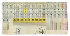 The Periodic Table Of The Elements Bath Towel