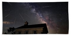 Bath Towel featuring the photograph The Perseid Meteor Shower At Lower Fox Creek School  by Keith Kapple