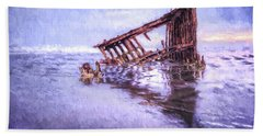 A Stormy Peter Iredale Bath Towel