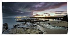 The Pier @ Lorne Bath Towel by Mark Lucey