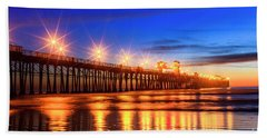 The Pier At Oceanside California Hand Towel