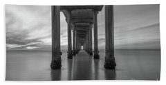 The Pier  Bw Hand Towel