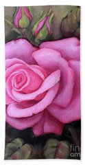 The Pink Dream Rose Hand Towel